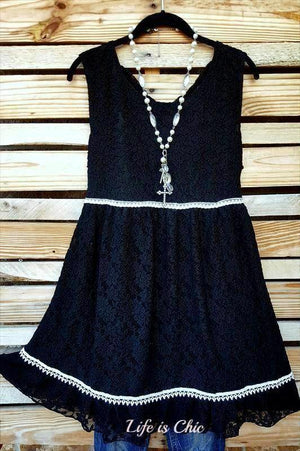 THE PERFECT TIME LACE DRESS IN BLACK [product vendor] - Life is Chic Boutique