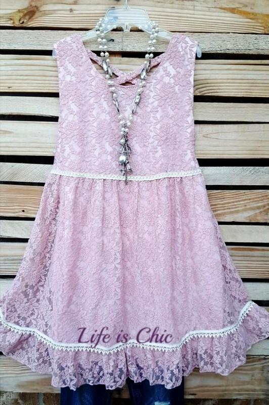 RECORD BEAUTY LACE DRESS IN PINK [product vendor] - Life is Chic Boutique
