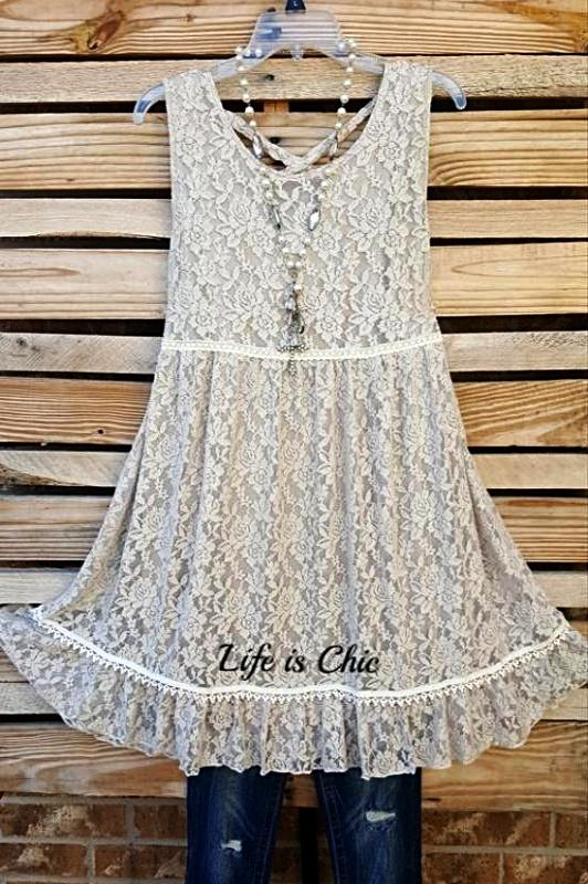 THE PERFECT TIME LACE DRESS IN TAUPE [product vendor] - Life is Chic Boutique