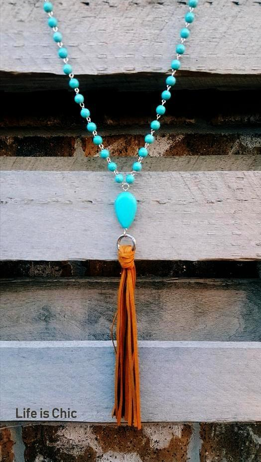 SANTA FE WILD BREEZE TASSEL NECKLACE [product vendor] - Life is Chic Boutique