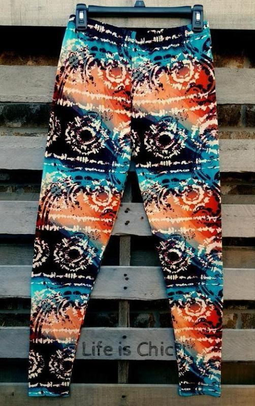 EASY GOES IT ESCAPE TIME SOFT LEGGINGS IN MULTI-COLOR [product vendor] - Life is Chic Boutique
