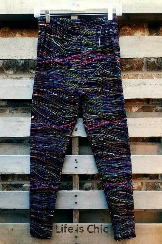 EASY GOES IT ABSTRACT SOFT LEGGINGS IN MULTI-COLOR [product vendor] - Life is Chic Boutique