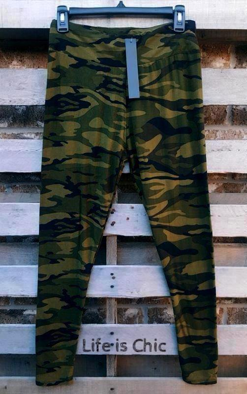 EASY GOES IT CAMO PRINT SOFT LEGGINGS IN MULTI-COLOR [product vendor] - Life is Chic Boutique