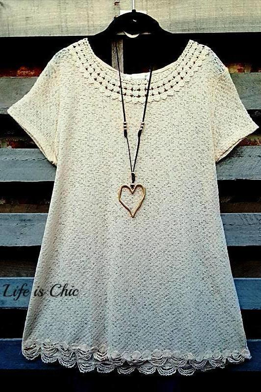 ALL FOR WONDER CLASSIC T-SHIRT TOP IN BEIGE - sale [product vendor] - Life is Chic Boutique