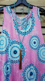 BEAUTY OF THE SEASON PINK MULTI TUNIC [product vendor] - Life is Chic Boutique