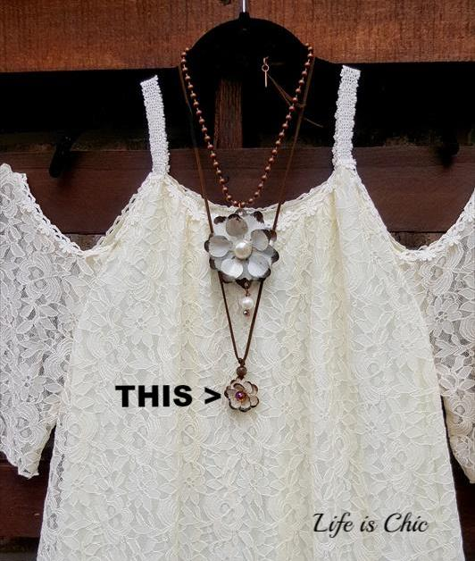D'AMOUR ROSE NECKLACE - VINTAGE CRYSTAL [product vendor] - Life is Chic Boutique