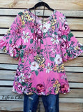 PRETTY PASSIONS FLORAL TOP IN PINK MIX [product vendor] - Life is Chic Boutique