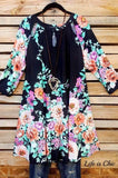 FEELING THE MAGIC FLORAL PRINT IN BLACK MIX [product vendor] - Life is Chic Boutique