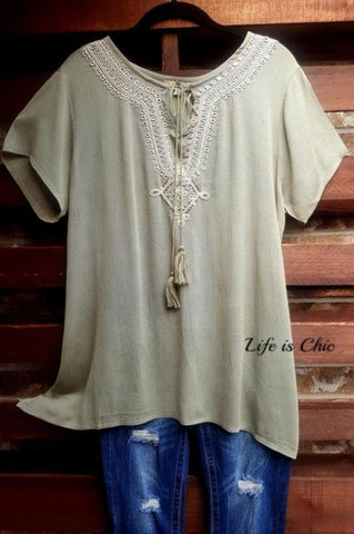 GO GIRL TOP TANK LAYERING PEASANT IN TAUPE