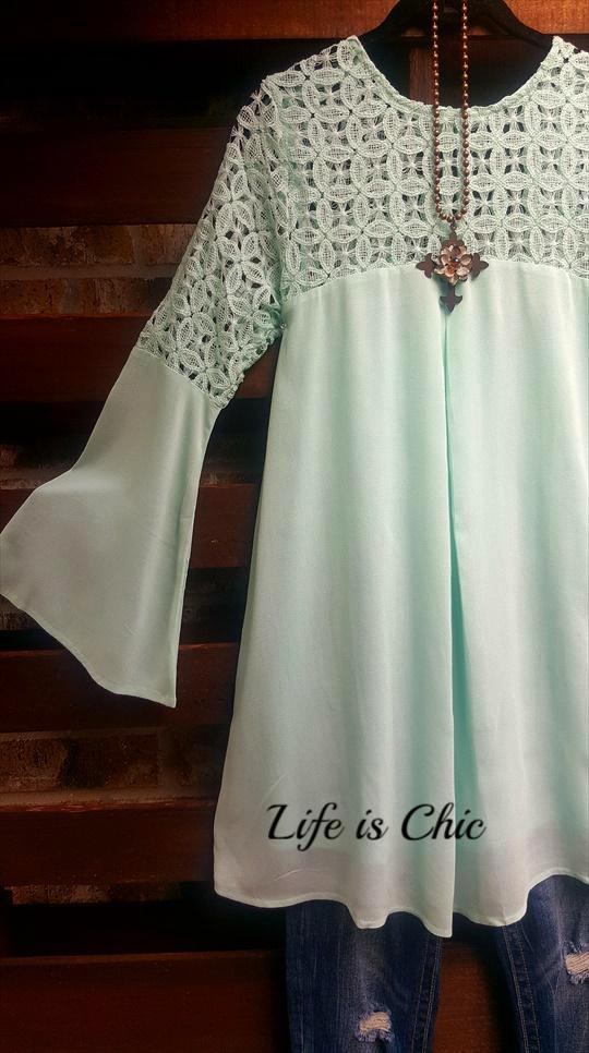 ALWAYS BE ADORABLE LACE DRESS MINT -sale [product vendor] - Life is Chic Boutique