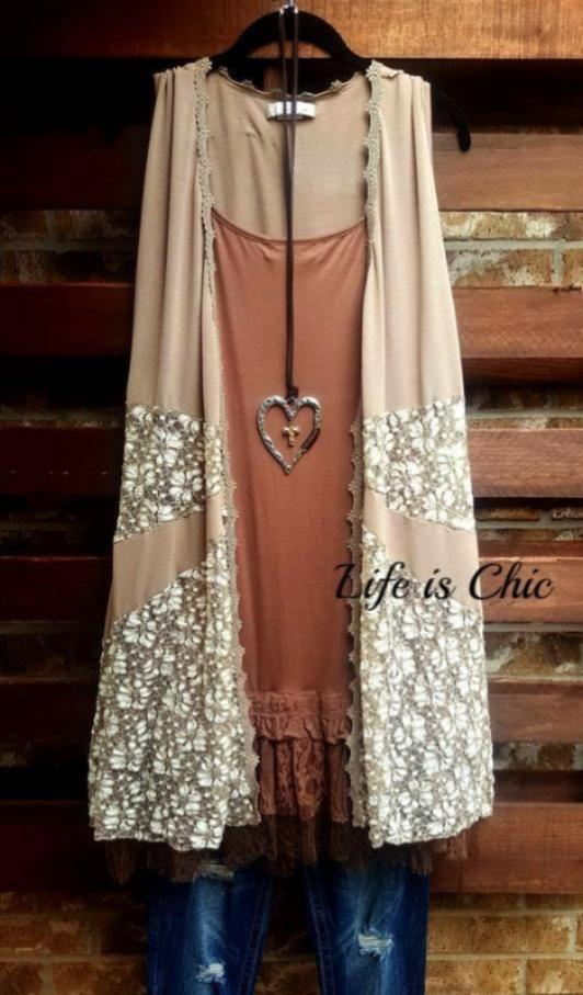 DAYS GONE BY VINTAGE-INSPIRED LACE VEST IN MOCHA [product vendor] - Life is Chic Boutique