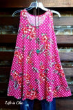 MAKING MY WAY TO YOU PINK FLORAL & POLKA DOT DRESS [product vendor] - Life is Chic Boutique