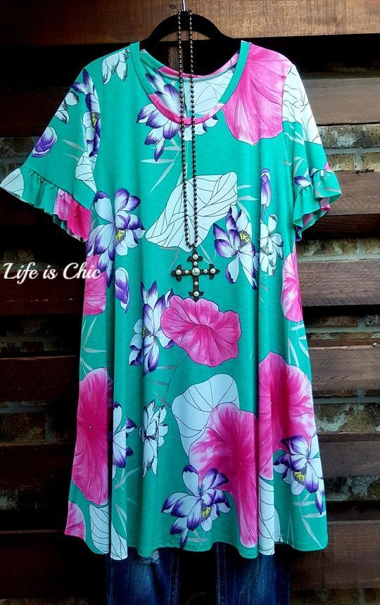 SUMMER GETAWAY MULTI-COLOR FLORAL DRESS [product vendor] - Life is Chic Boutique