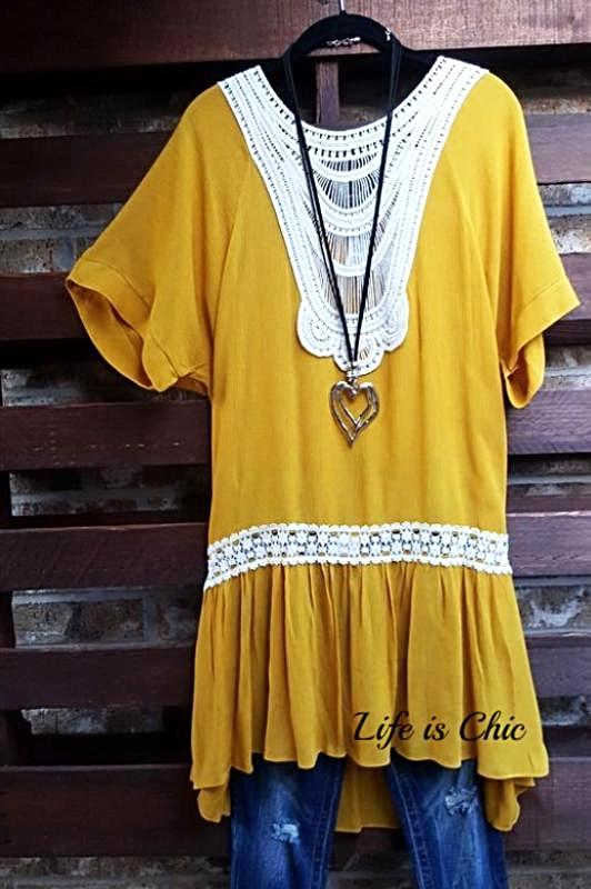 FOREVER JOYFUL CROCHET COMFY LIGHTWEIGHT DRESS IN YELLOW DIJON-sale [product vendor] - Life is Chic Boutique