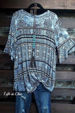 BEAUTIFUL RADIANCE TRIBAL PRINT IN GRAY MIX