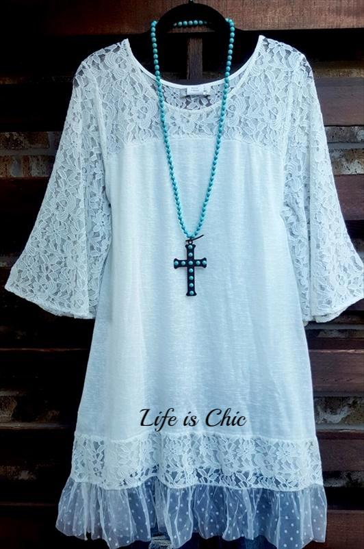 MY FAVORITE LACE DRESS IN WHITE [product vendor] - Life is Chic Boutique