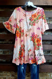 DISCOVERED BEAUTY FLORAL PEACH MIX DRESS - sale [product vendor] - Life is Chic Boutique