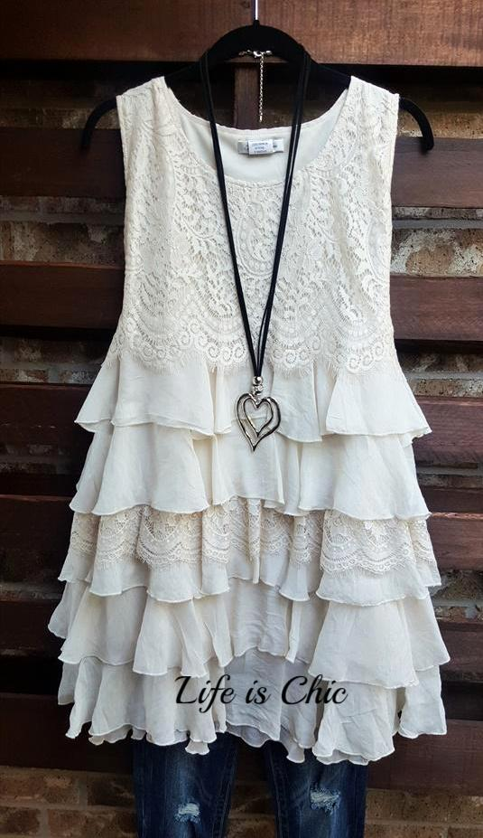 WON MY HEART RUFFLED LACE DRESS IN BEIGE [product vendor] - Life is Chic Boutique