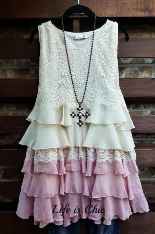 WON MY HEART RUFFLED LACE DRESS IN BEIGE & MAUVE [product vendor] - Life is Chic Boutique