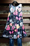 BEAUTY AND BLOOM SLEEVELESS DRESS NAVY & MULTI [product vendor] - Life is Chic Boutique