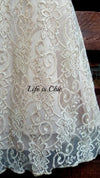 ENCHANTED BEAUTY LACE DRESS IN TAUPE [product vendor] - Life is Chic Boutique