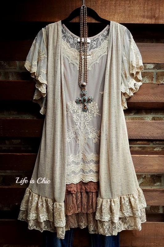 BELIEVE IN MAGIC OF NEW BEGINNINGS LACE VEST IN TAUPE [product vendor] - Life is Chic Boutique