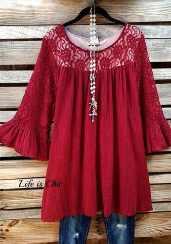 LOVELY & FASHION PEARL LACE TANK TUNIC IN TAUPE