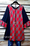 ALWAYS THE FAVORITE PRETTY RED PLAID TOP [product vendor] - Life is Chic Boutique