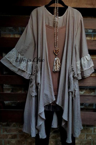A PIECE OF MY HEART DRESS LACE IN MAUVE