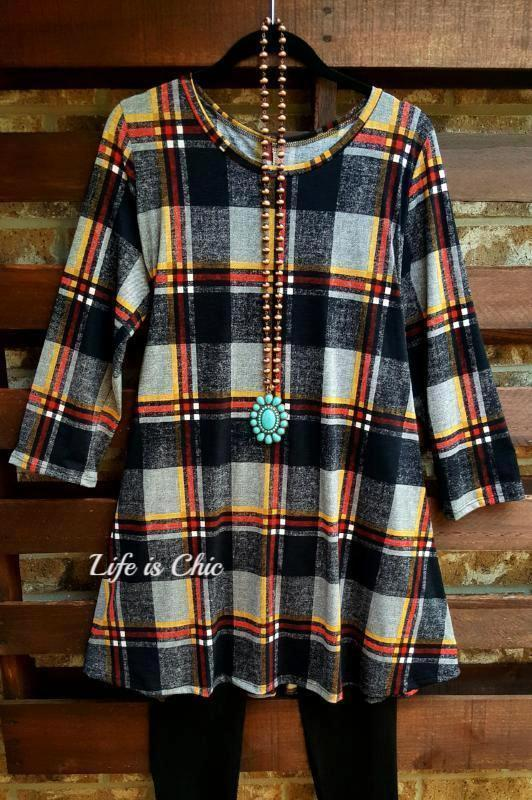 A BEAUTIFUL TOMORROW PLAID DRESS IN BLACK MULTI [product vendor] - Life is Chic Boutique