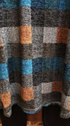 WHAT A WARM EMBRACE PLAID SWEATER TUNIC IN BLUE MULTI