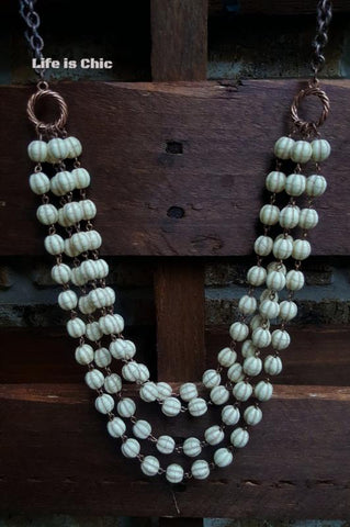 PERFECTLY VICTORIAN INSPIRED PEARL CROSS NECKLACE