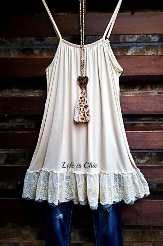 SO THIS IS LOVE LACE SLIP DRESS EXTENDER IN CREAM [product vendor] - Life is Chic Boutique