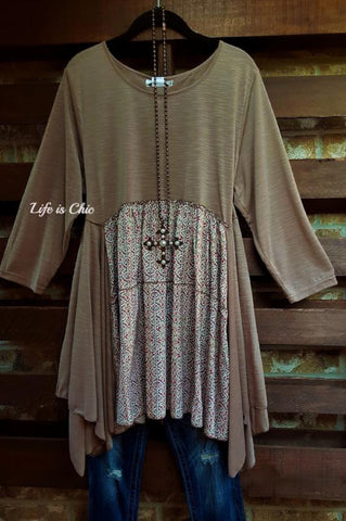 FAVORITE OBSESSION EMBROIDERED LACE DRESS IN GRAY