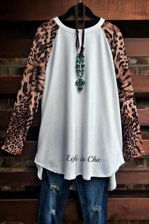 A BIT OF SOMETHING PRETTY CORDUROY BODICE AND LEOPARD IN OFF WHITE [product vendor] - Life is Chic Boutique