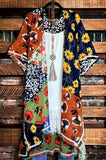 ENCHANTED GARDEN 100% COTTON KIMONO IN MULTI-COLOR