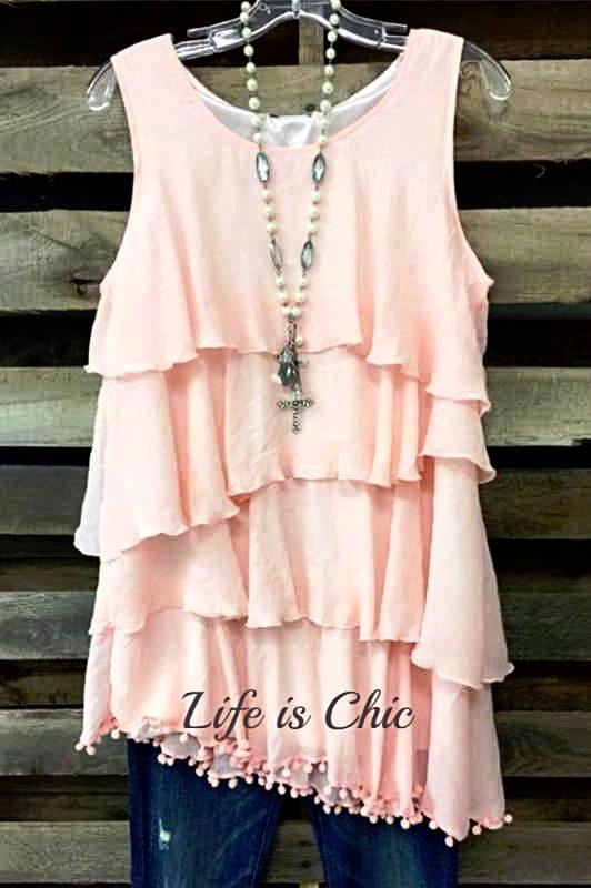 LOVE ME TANK DRESS LAYERING - LIGHT PINK [product vendor] - Life is Chic Boutique