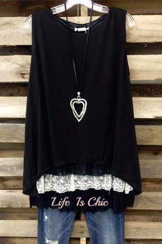 GO OUT IN STYLE  WILD ROSE LACE CARDIGAN IN BLACK
