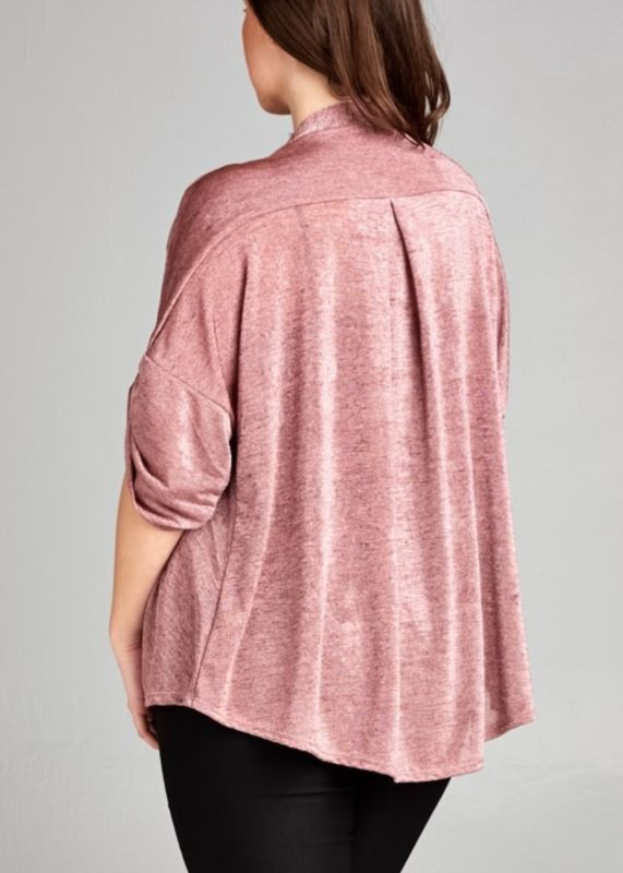 MAUVE CARDIGAN JACKET-----------sale