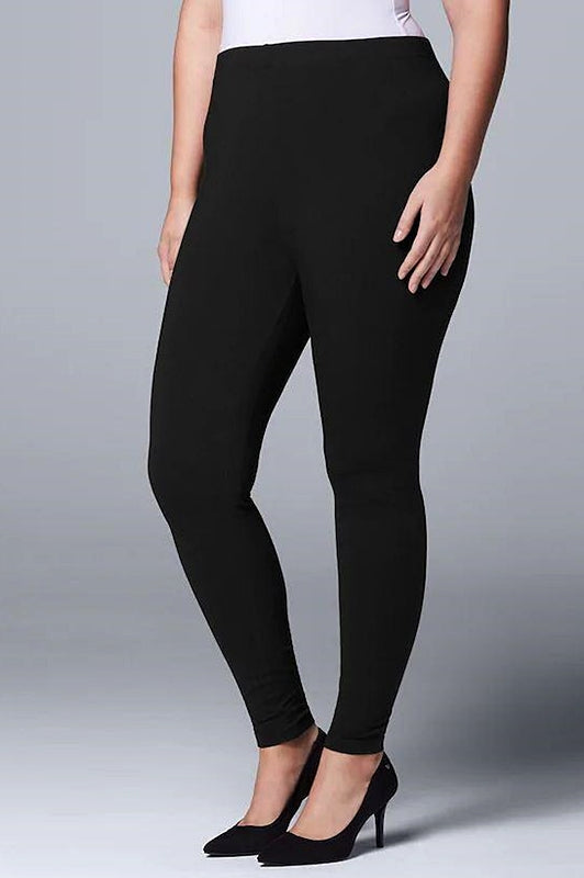 INTRODUCING OUR BEST SELLER BRUSHED COMFY PLUS SIZE YOGA LEGGINGS IN BLACK