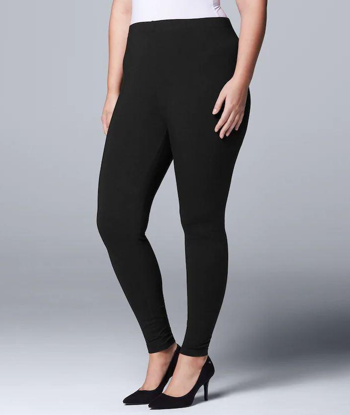 1X/2X  &  2X/3X INTRODUCING OUR PLUS SIZE HIGH WAISTED SOLID BLACK SCUBA YOGA LEGGINGS [product vendor] - Life is Chic Boutique
