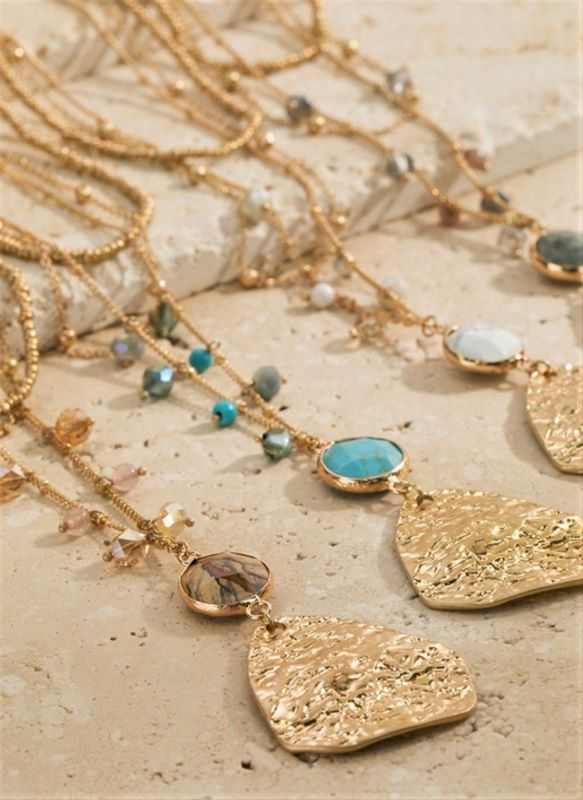 TEAR OF THE SUN LAYERED NECKLACE IN TURQUOISE