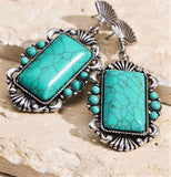 THE BLUEGRASS TURQUOISE Natural Stone Earrings