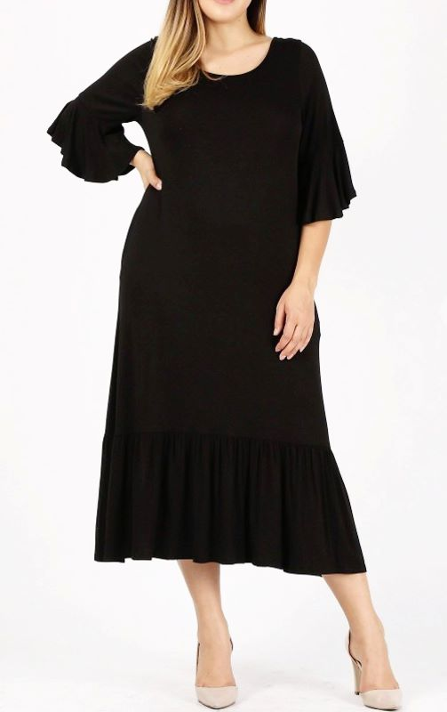 DEFINE COMFORT & DARLING MAXI DRESS IN BLACK