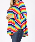 COLORS OF THE RAINBOW LONG SLEEVE TOP ---- sale
