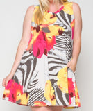 SUMMER FIESTA DRESS MULTI-COLOR