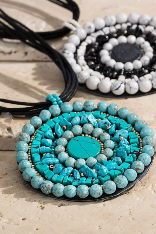 BLUE MOON TALISMAN NATURAL STONE NECKLACE SET