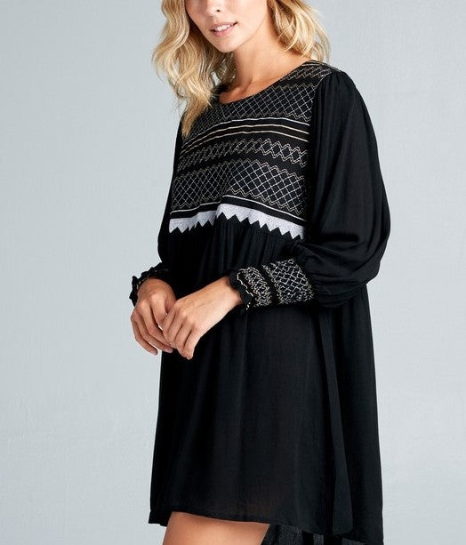WRITTEN IN THE STARS EMBELLISHED DRESS IN BLACK