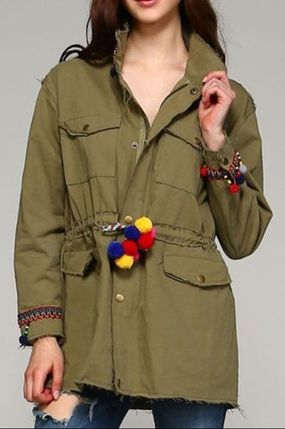 A SOFT COZY POCKET PAD COAT JACKET IN BROWN-------------sale