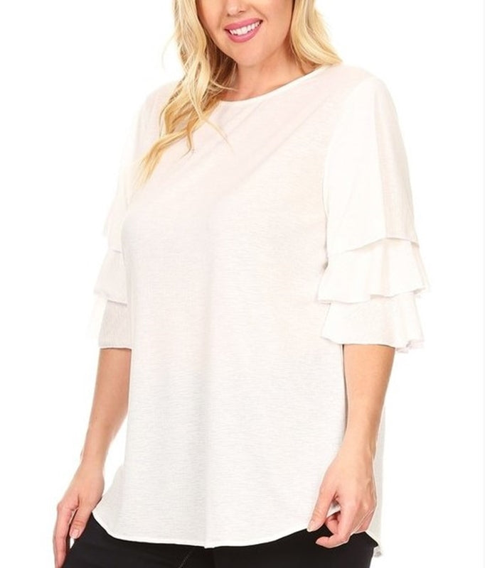 IT'S SIMPLE BEAUTY IVORY BLOUSE